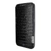 Piel Frama Samsung Galaxy S6 Edge Framaslim eredeti gyíkbőr tok, fekete