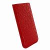 Piel Frama iPhone 6/6S Pull Style kihúzható eredeti borjúbőr tok, piros