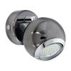 EGLO Szpot lámpa fali 1xGU10 3W LED nikkel-nero/kr acél d:7cm Bimeda EGLO