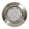 EGLO LED-es beépíthető lámpa GU10 3x5W matt nikkel Peneto EGLO