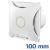 - Design ventilátor fehér X (100 mm) alap típus