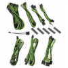 Bitfénix BitFenix Alchemy 2.0 PSU kábelkészlet, BQT széria SP10 - fekete/zöld