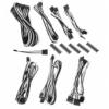 Bitfénix BitFenix Alchemy 2.0 PSU kábelkészlet, BQT széria SP10 - fekete/fehér