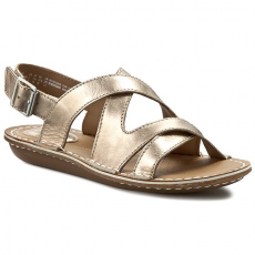 Clarks Szandál CLARKS - Tustin Spears 261156224 Metallic Leather