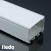 Lumines Alu profil eloxált (Iledo) LED szalaghoz, opál