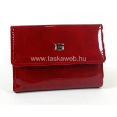 Giudi piros kétoldalas lakk pénztárca 6545GVL