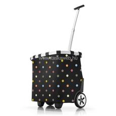 Reisenthel CARRYCRUSISER fekete, színes pettyes gurulós bevásárlókocsi OE7009