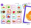Akros Memóriajáték - egészséges ételek memóriajáték