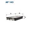 Filtron AP143 Filtron levegőszűrő