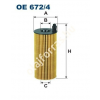 Filtron OE672/4 Filron olajszűrő