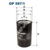 Filtron OP587/1 Filron olajszűrő