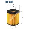 Filtron OE669 Filron olajszűrő