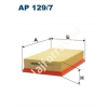 Filtron AP129/7 Filtron levegőszűrő