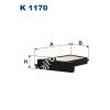 Filtron K1170 Filtron pollenszűrő