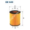 Filtron OE649 Filron olajszűrő