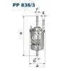 Filtron PP836/3 Filtron üzemanyagszűrő