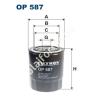 Filtron OP587 Filron olajszűrő