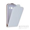 utángyártott Flip tok szilikon belsővel, Samsung G360 Galaxy Core Prime, fehér