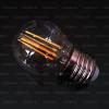 Life Light Led LED körte égő E27 (4Watt/300°) üvegszálas COG LED, üvegbúra, középfehér, retro izzó led