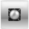 Vents Hungary Vents 100 Atoll Titan Modern Formatervezésű Inox Előlapos Ventilátor