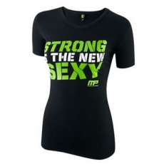 MusclePharm Womens Crew Neck Strong Green