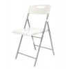 """ALBA Összecsukható szék, fém és műanyag, ALBA """"Smile"""", fehér"""