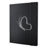"""SIGEL Jegyzetfüzet, exkluzív, A4+, kockás, 194 oldal, keményfedeles, SIGEL """"Conceptum Softwave"""", fekete"""