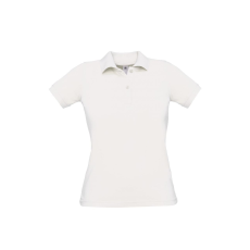 B&C B&C Safran Női pamut piké póló, fehér