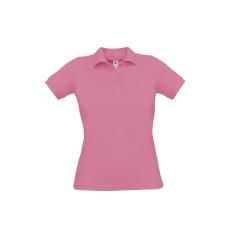 B&C B&C Safran Női pamut piké póló, pink