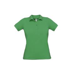 B&C B&C Safran Női pamut piké póló, kelly green