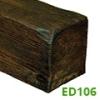 DecoWood gerenda, modern nagy (ED106) mahagóni (12x12 cm)