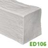 DecoWood gerenda, modern nagy (ED106) fehér (12x12 cm)
