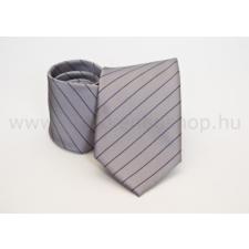 Rossini Prémium nyakkendõ - Szürke-fekete csíkos nyakkendő