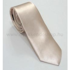 Szatén slim nyakkendõ - Ecru