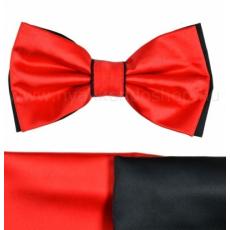 Gyerek szatén csokornyakkendõ - Fekete-piros