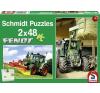 Schmidt Puzzle - Fendt traktorok - 2x48db-os puzzle, kirakós
