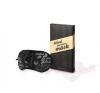 Bijoux Indiscrets Blind Passion Mask Szemkötő Maszk elegáns fényes fekete szaténból maszk