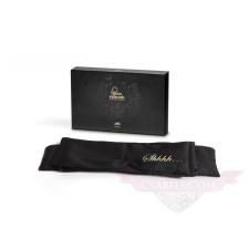 Bijoux Indiscrets Shhh fekete szatén - selyem Szemkötő erotikus játékokhoz maszk
