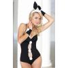 Softline 3 részes fekete szexi nyuszi jelmez erotikus ruha