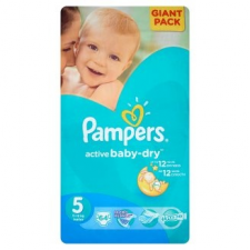 Pampers Active Baby Dry pelenka 5 méret, junior 64 db pelenka