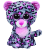 Ty. Plüss figura Beanie Boos 24 cm Tasha - pink/szürke leopárd