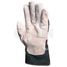 Euro Protection Védõkesztyû, szürke marhahasíték tenyér, farmer kézhát és mandzsetta, 12 pár