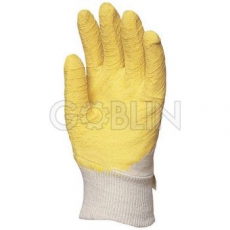 Euro Protection Sárga krepp latex vágásbiztos, csúszásgátló, szellõzõ hátú kesztyû, 12 pár