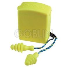 Earline® Lamellás sárga, zsinóros füldugó mûanyag dobozban, mosható (SNR 30dB), 50 pár