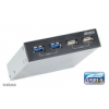 Akasa AK-ICR-12 V3 InterConnect S USB elõlapi Panel 3,5 - fekete