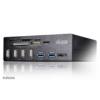 Akasa AK-HC-05U3BK InterConnect Pro USB panel fekete