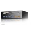Akasa Interconnect EX Internal 5-Port Card Reader inkl. USB 3.0 Hub AK-HC-07BK