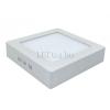 Optonica 18W falra szerelhető LED panel (négyzet, opál üveg, meleg fehér)