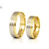 Vésett bicolor arany karikagyűrű