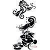 Fekete falmatrica - Tengeri motívum #72